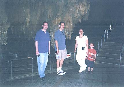 Chris, Scott, Sheila, and Austin in the Caves