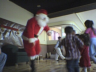 Santa doing his thing.